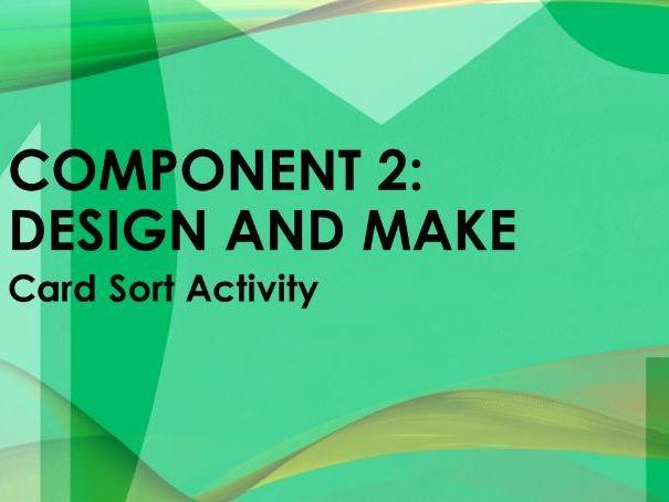 D&T Textiles - Design and Make - Card sort activity