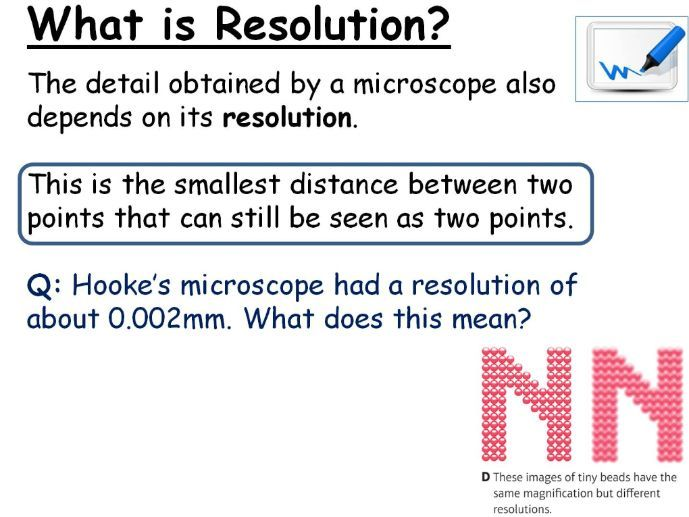 GCSE Biology Microscopes Lesson Powerpoint (Edexcel 9-1 CB1a SB1a)