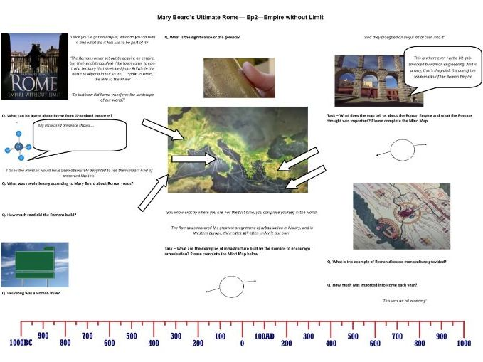 Mary Beard's Ultimate Rome: Empire Without Limit - Ep 2 -Worksheet to support the BBC Documentary