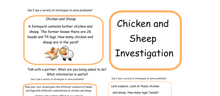 Chicken and Sheep Investigation