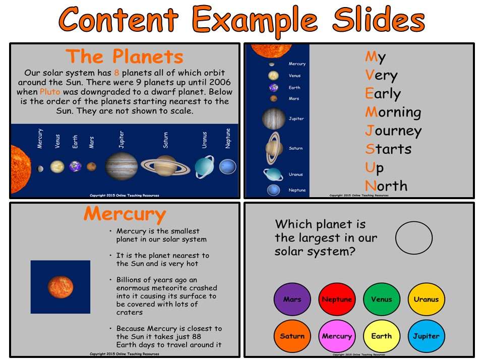 The Solar System - Interactive PowerPoint presentation and worksheets