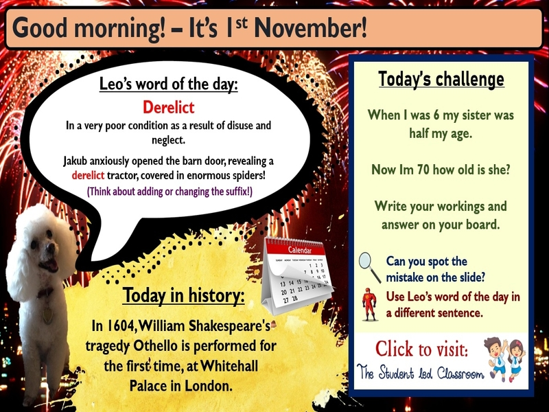 Morning Challenge Slides (November)