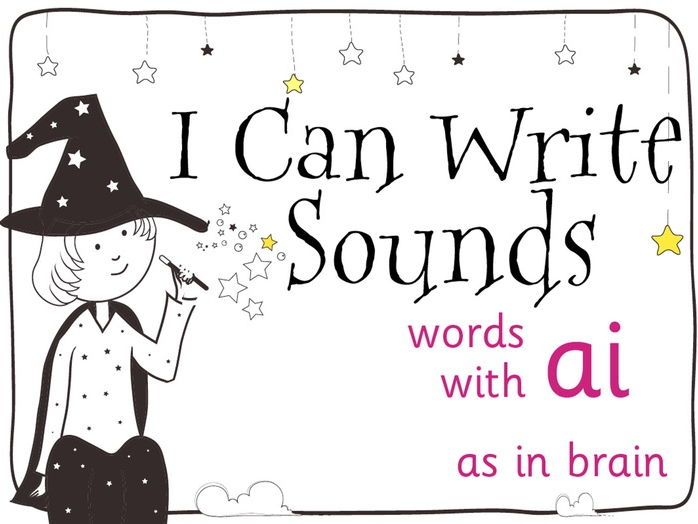 Magic Sounds Phonics Set 39 words with ai (as in brain)