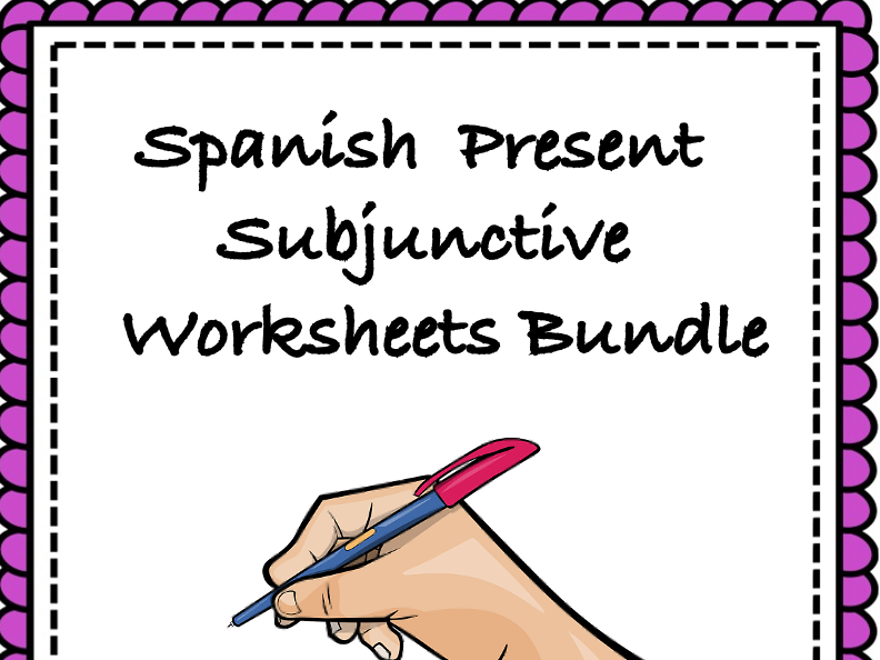 Spanish Subjunctive Worksheets Bundle: Top 8 Worksheets @45% off! (subjuntivo)