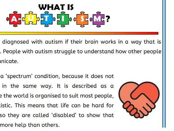 What is Autism Comprehension Activity
