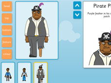 Pirate Character Maker plus Vocab