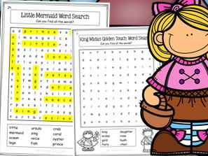 Fairy Tales Word Search Activity