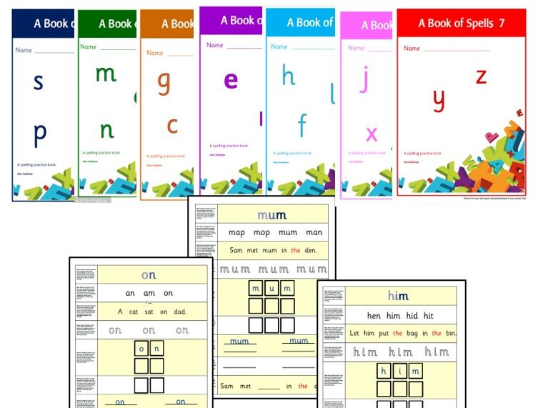 A Book of Spells Series-Complete set of 7 booklets-Intensive word practice Sets 1-7 -Phonics for SEN