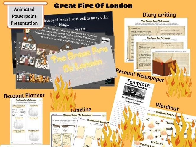 The Great Fire Of London Bundle of Activities including Powerpoint Presentation