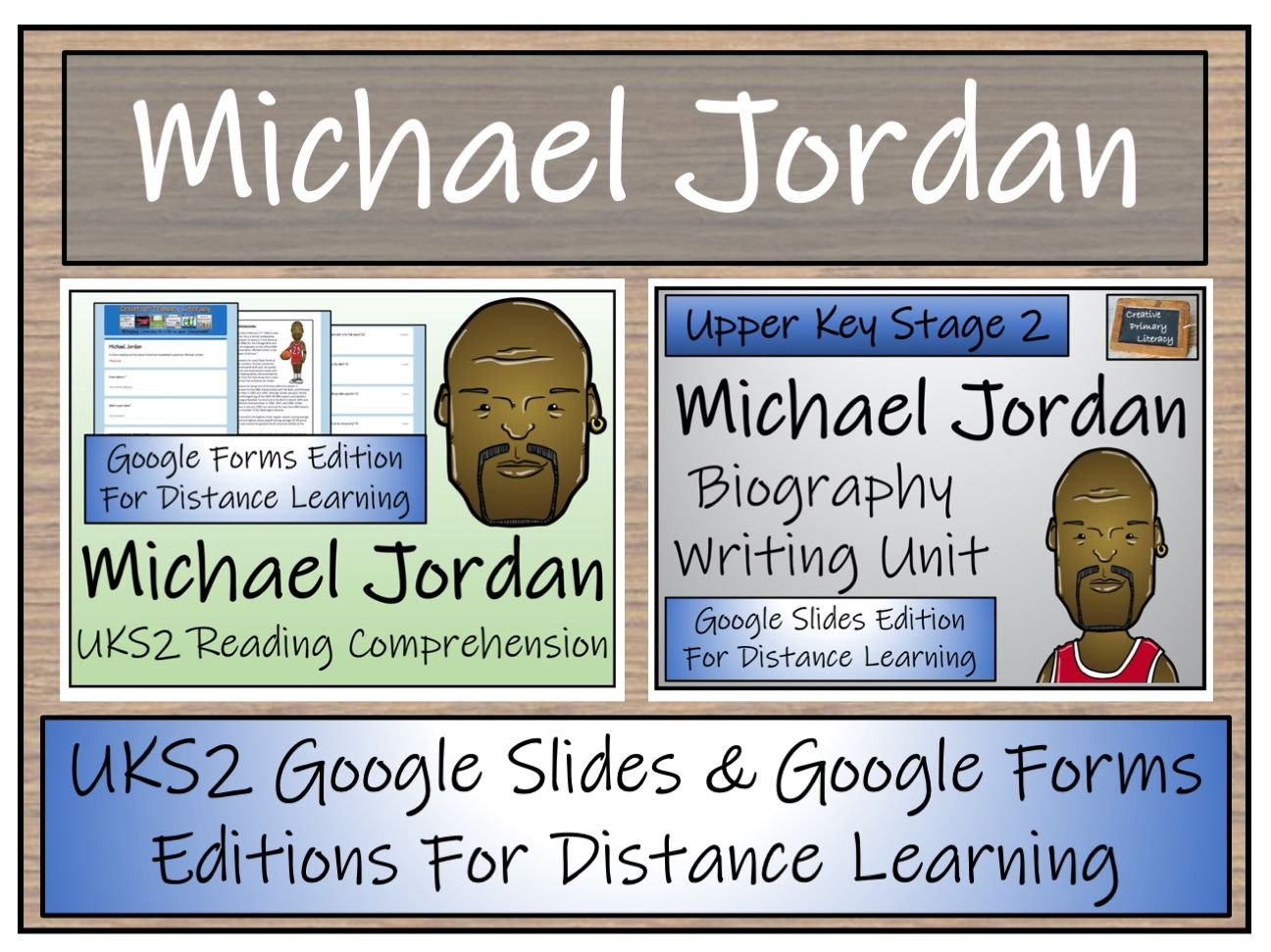 LKS2 Michael Jordan Biography & Reading Comprehension Distance Learning Bundle