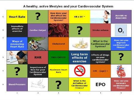 GCSE P.E. Learning Grid - Cardiovascular System