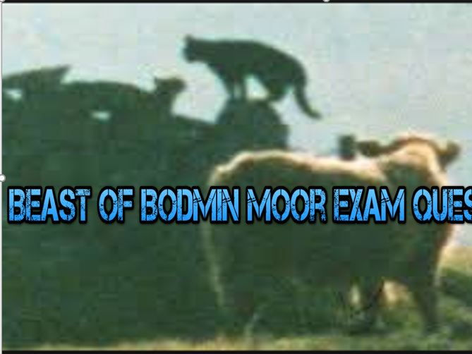 Beast of Bodmin Moor Exam Question Lesson