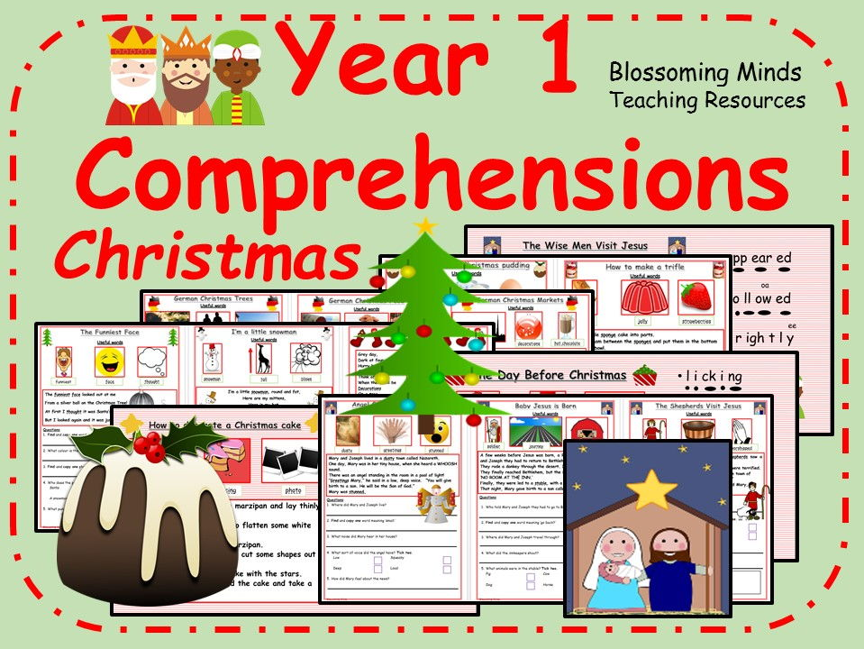 Year 1 Christmas Comprehension Bundle