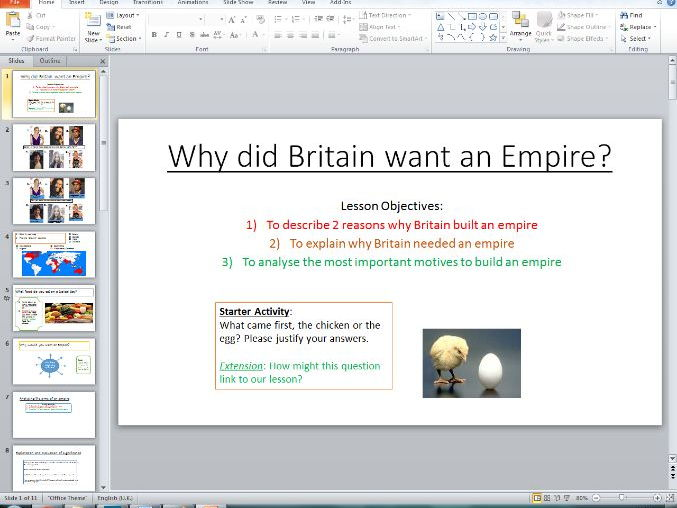 why did britain want an empire essay