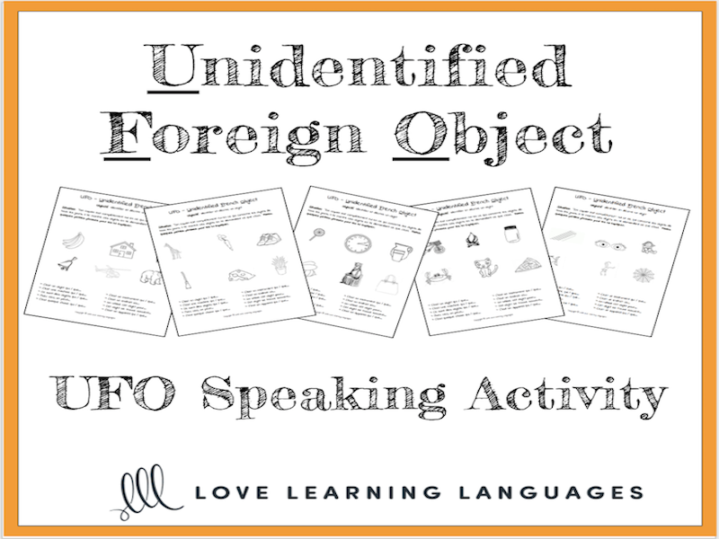 Unidentified foreign object paired speaking activity for language classrooms