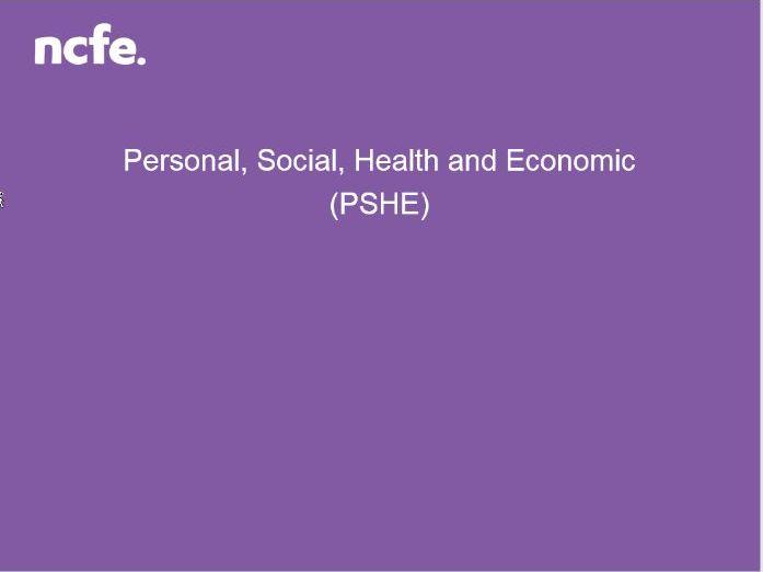 NCFE PSHE Resource - Mental Health Awareness Level 1/2