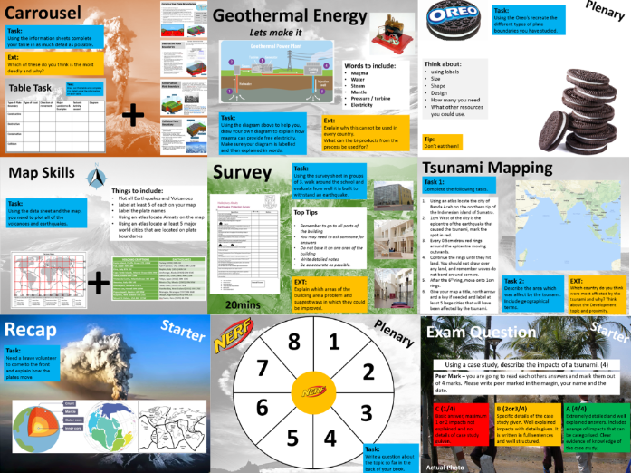 Tectonics SOW x 12 Lessons
