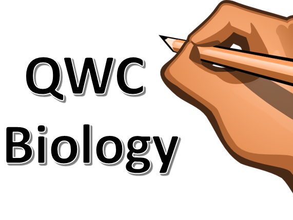 QWC Questions for Biology GCSE including descriptors, markscheme and  1-9 level boundaries.