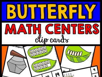BUTTERFLY MATH CENTERS BUNDLE (PRE K + KINDERGARTEN BUTTERFLY THEME)