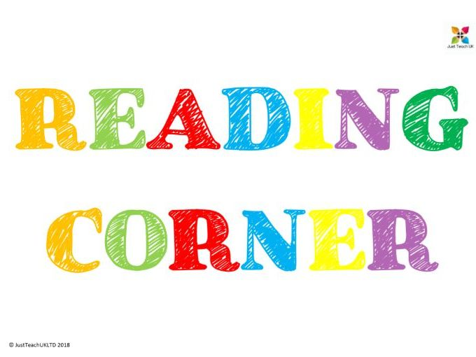Reading corner display lettering