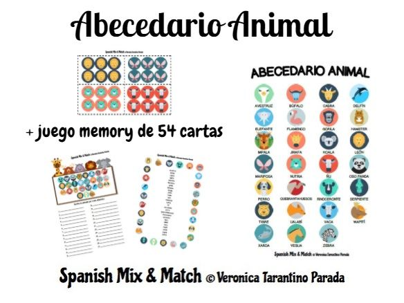 Animal ABC for Spanish class (children, primary)