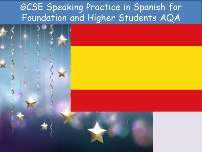 GCSE Revision Spanish Speaking Practice New AQA