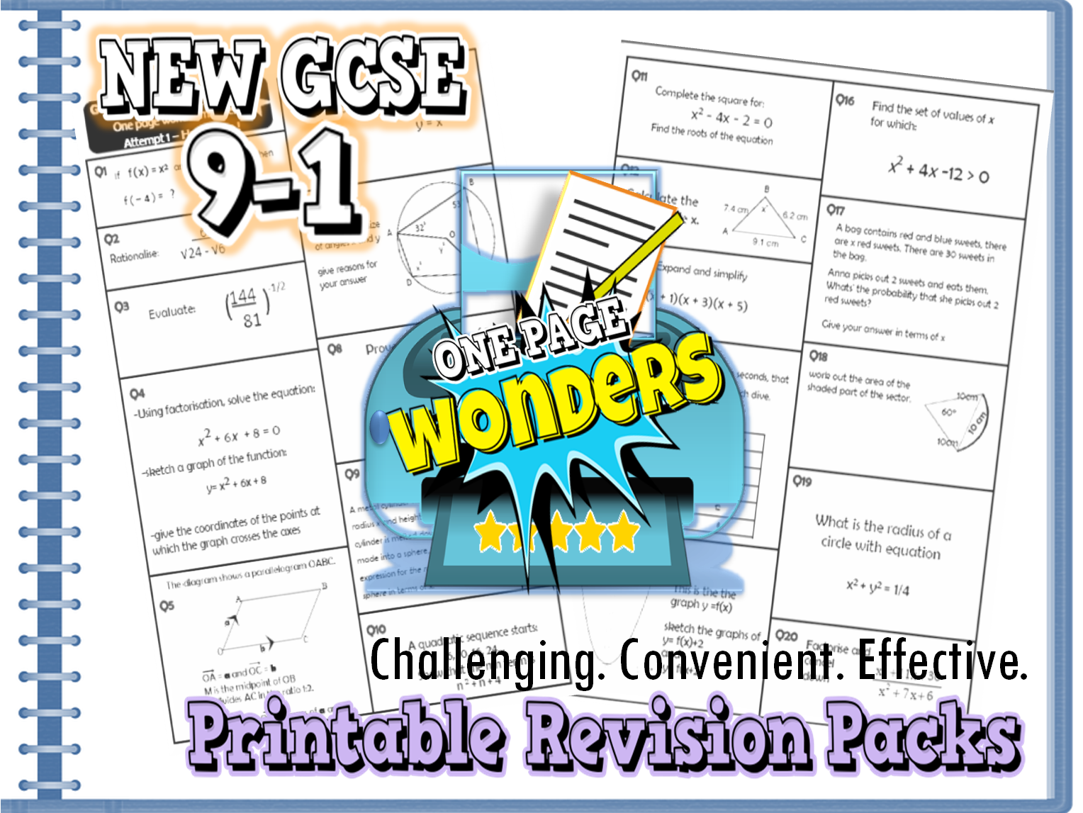 New GCSE Maths 9-1 Revision Pack With Solutions- Target Grade 5 \