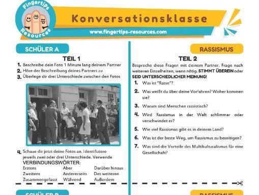 Rassismus - German Speaking Activity