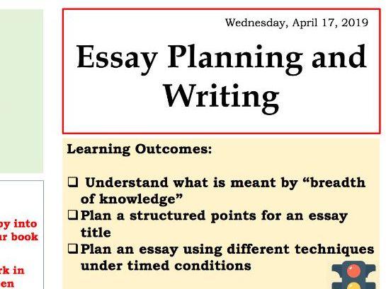 Biology  Essay Planning AQA