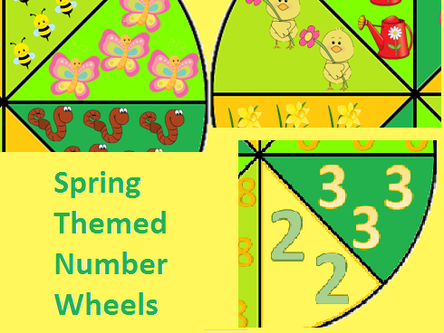 Spring Themed Number Wheels