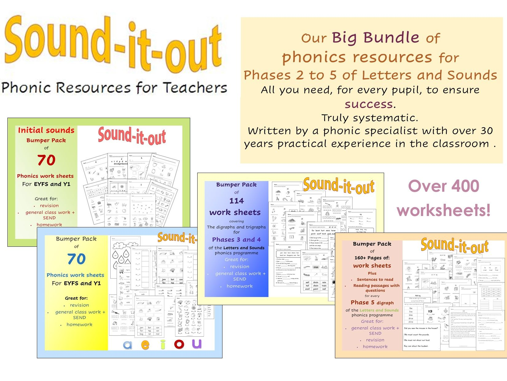 Big Bundle of phonics resources for Letters and Sounds