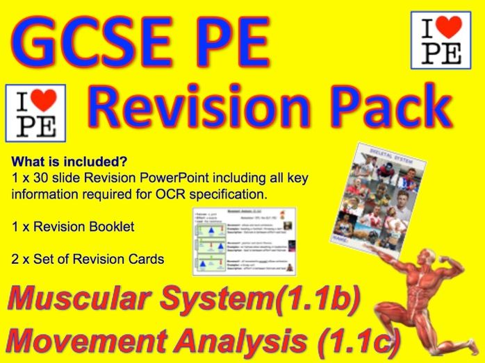 GCSE PE Muscular System, Levers, Planes and Axis Revision Pack