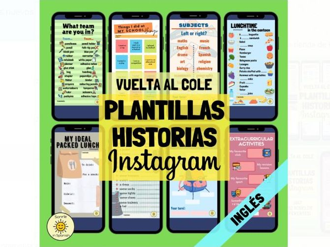Back to school - English Instagram templates - vocabulary practice