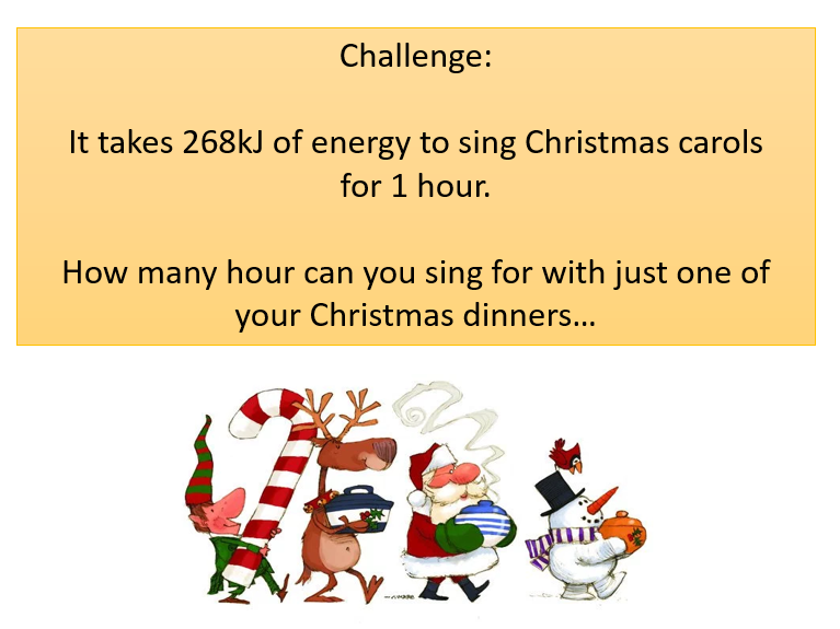 Christmas Science: Energy of Christmas Dinner