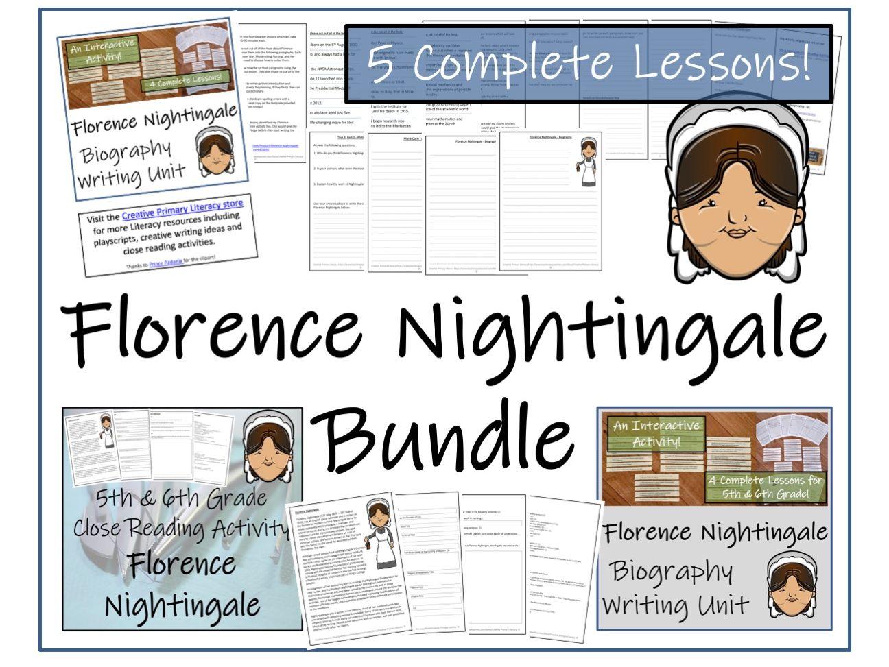 UKS2 History - Bundle of Florence Nightingale Activities