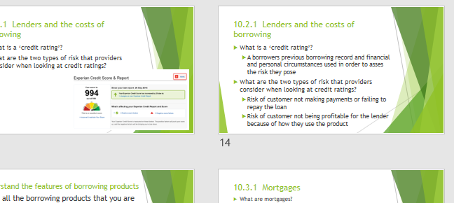 LIBF CEFE Unit 2 Topic 10 Borrowing Products