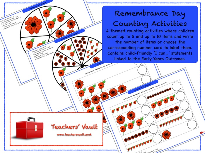 Remembrance Day Counting Activities