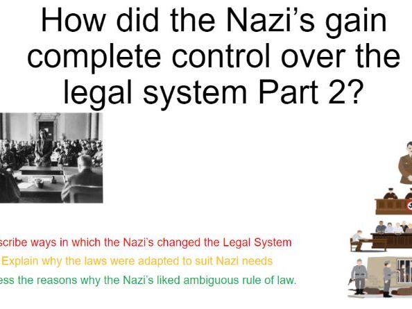 REMOTE Nazi Control over Legal System