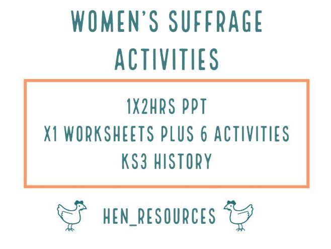 Women's Suffrage Activities