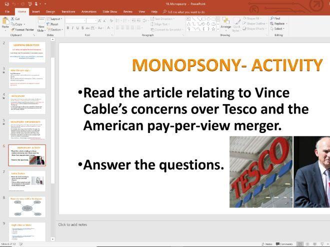 19. Monopsony (Slides, Activities and Notes) - Edexcel A-Level Economics - Theme 3