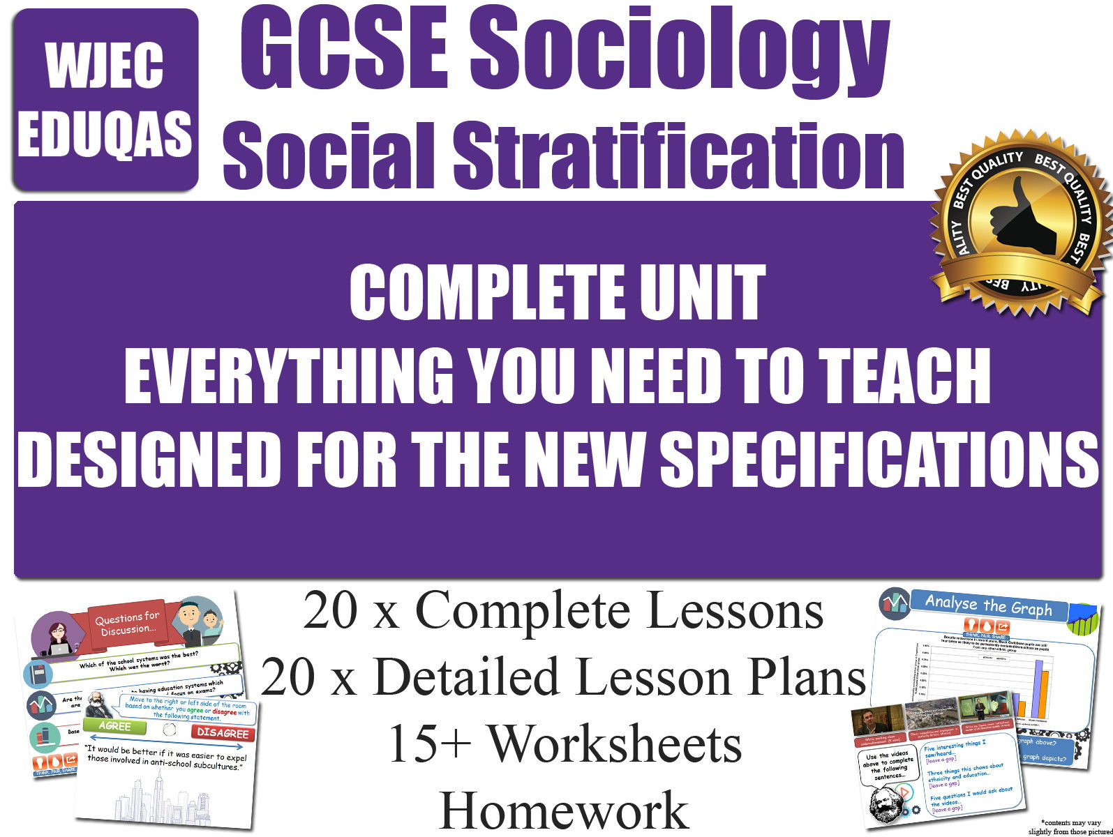 Social Stratification (20 Lessons) WJEC / EDUQAS [ GCSE Sociology ] POWER AUTHORITY - NEW 2017