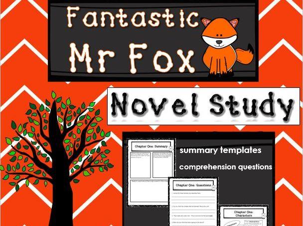 Fantastic Mr Fox Novel Study