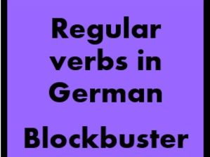 German Regular Verbs Blockbuster game for Smartboard