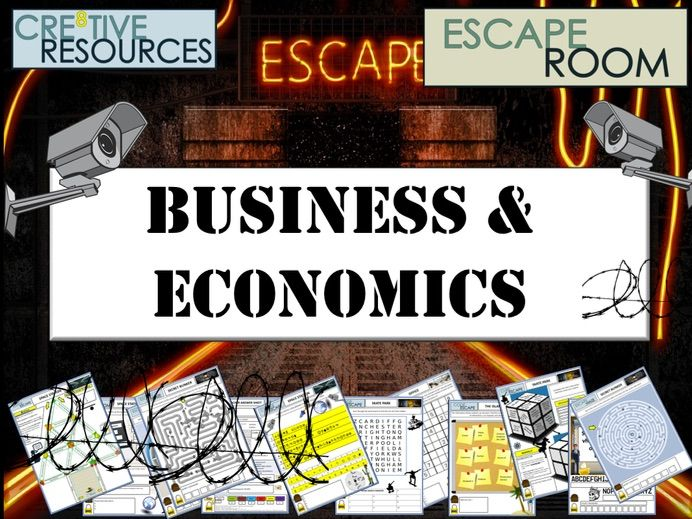 A Level Economics and Business Escape Room - End of Term