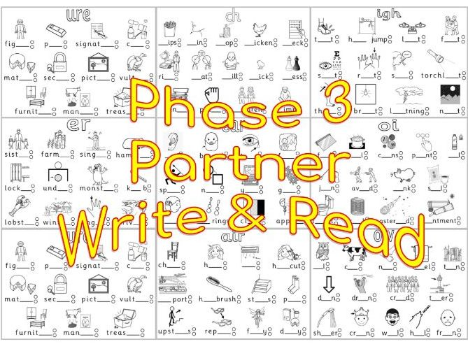 Phase 3 Phonics Partner Write and Read