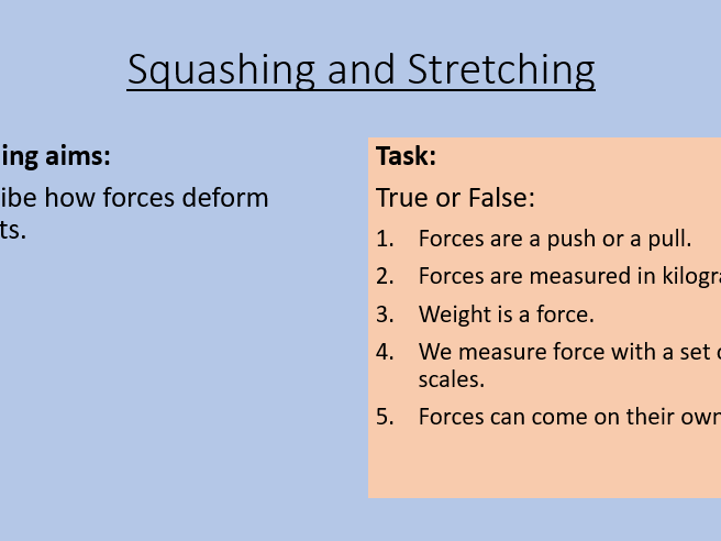 KS3 Squashing and Stretching
