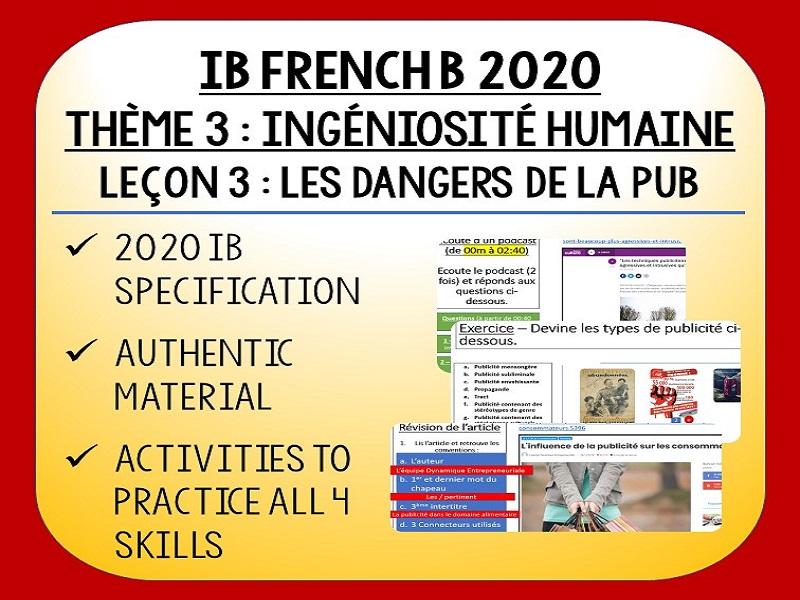 IB FRENCH B 2020 - Ingéniosité Humaine L3 - Les Dangers de la Publicité