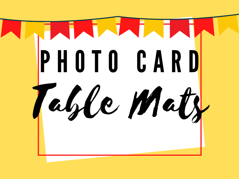 Speaking - Photo card description  table mat Spanish and French