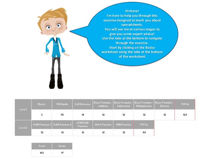 KS3 Spreadsheets Intro Tasks - Basic Formulae & Functions