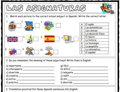 School worksheet bundle